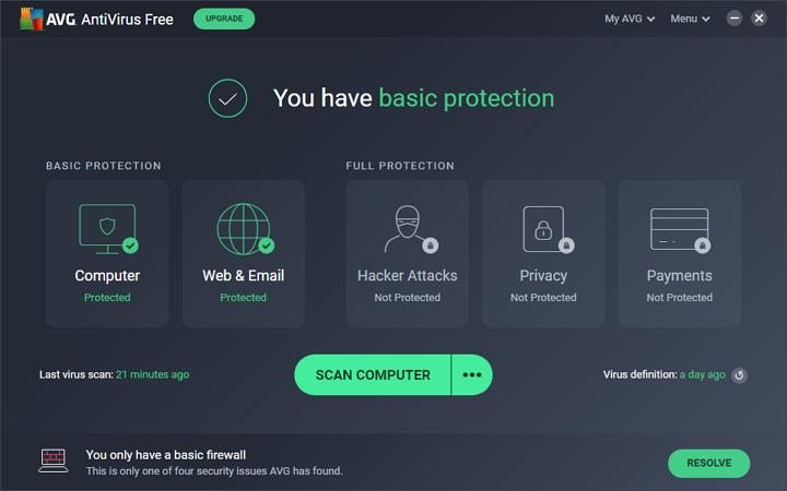 Cea mai buna protectie dubla: AVG AntiVirus Free