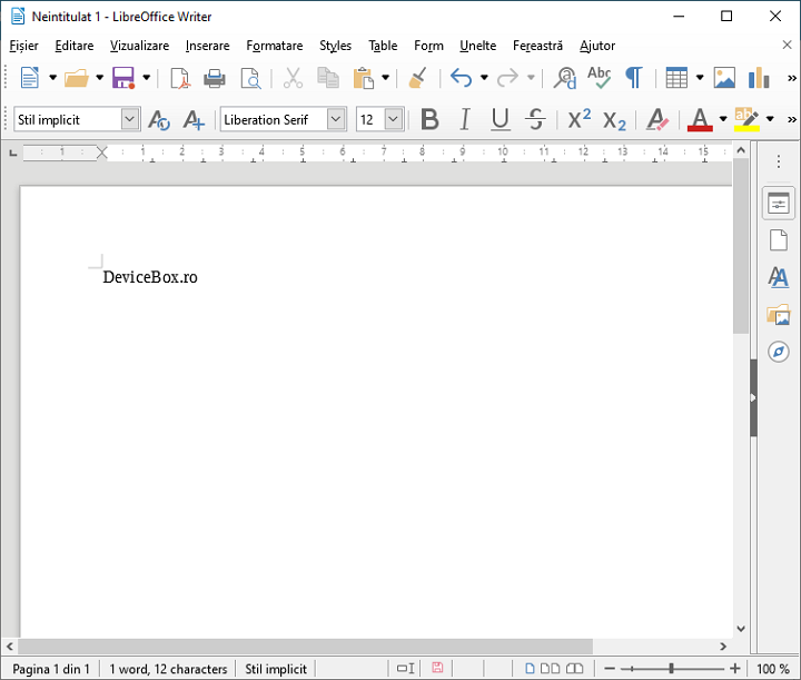 Document LibreOffice Writer