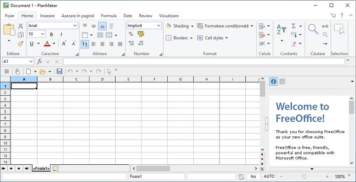 Foaia de calcul SoftMaker FreeOffice