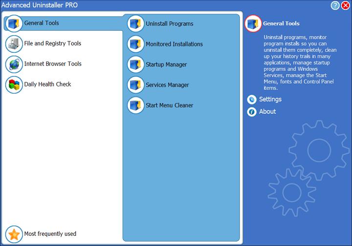 Meniu Advanced Uninstaller Pro