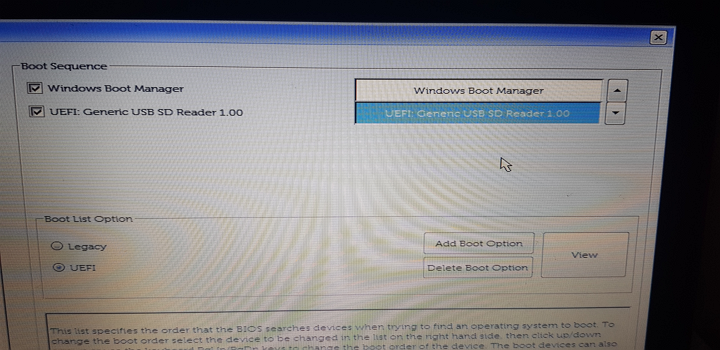Prioritatea de bootare in UEFI BIOS
