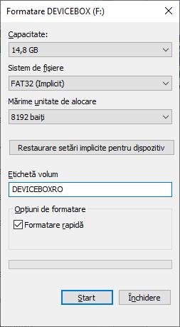 Formatarea in FAT32 pentru bootare