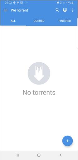 Aplicatia WeTorrent pentru Android