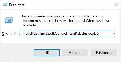 Activeaza pictograma Acest PC in linia de comanda