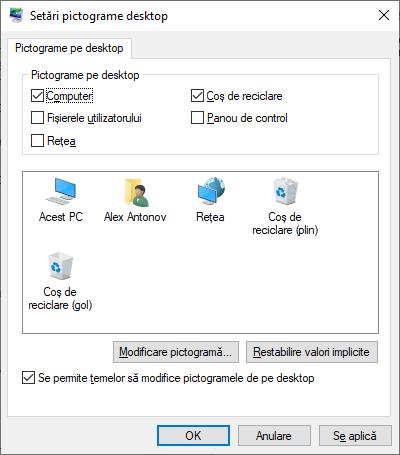 Activare pictograma Acest PC