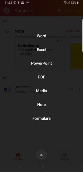 Vizualizarea fisierelor Office pe Android