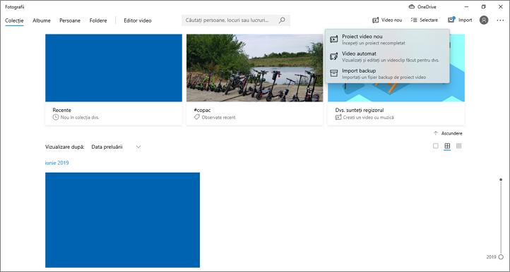 Porneste editorul video din aplicatia Fotografii Windows 10