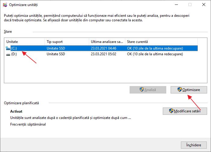 Optimizarea SSD